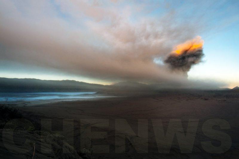 Sunlight on the eruption