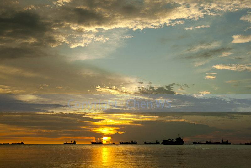 Sunset at Nirwana Beach, Padang, Indonesia