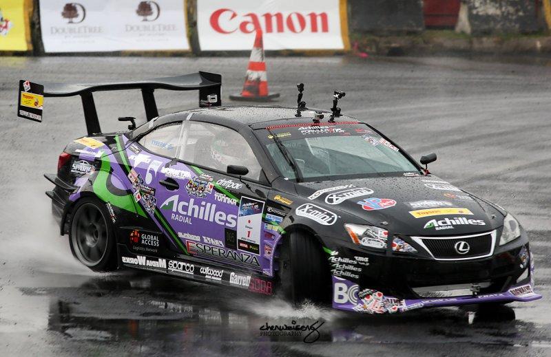 Daigo Saito in the rain