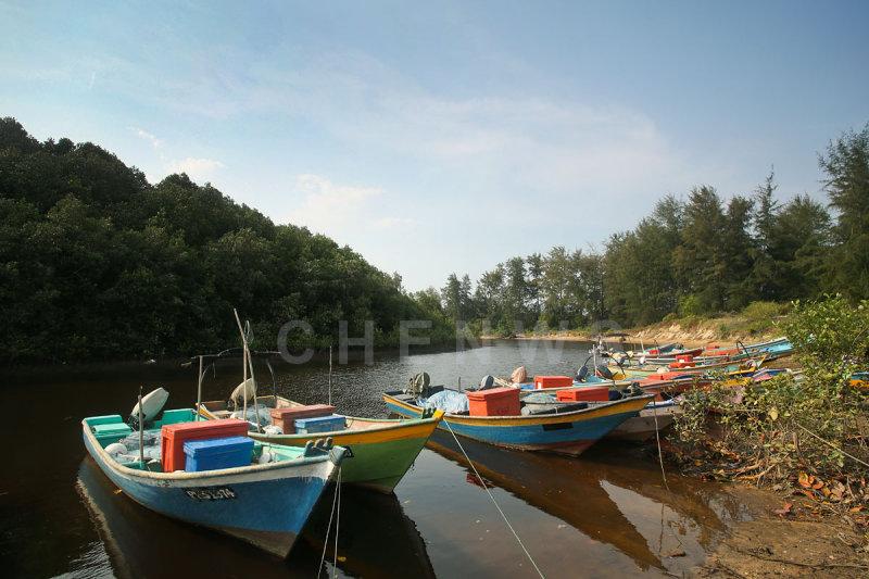 Fishing boats in Kg. Sungai Ular, Kuantan