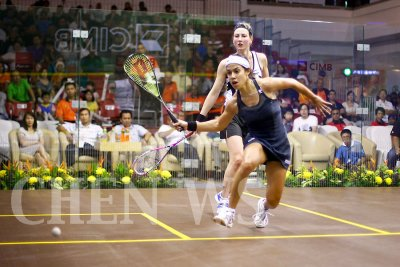 Nicol David (Mas) vs Alison Waters (Eng)