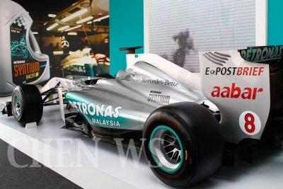 Mercedes F1 car on display