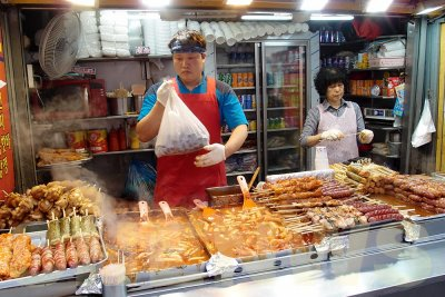 Street food in Myeongdong, South Korea