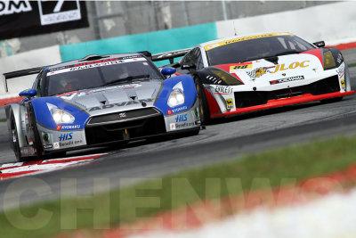 ADVAN KONDO GT-R, JLOC Lamborghini RG-3 (#88)