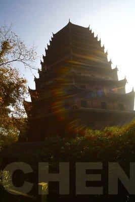 Liuhe Pagoda in the morning light.