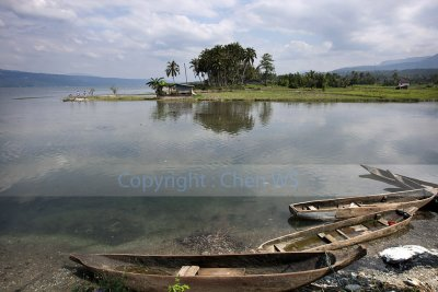 Fishing boats, Lake Singkarak