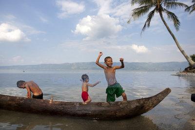 Frolicking, Lake Singkarak