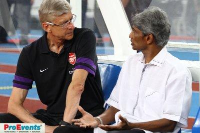 Arsene Wenger and Datuk Rajagopal