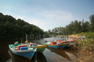 Fishing boats in Kg. Sungai Ular, Kuantan