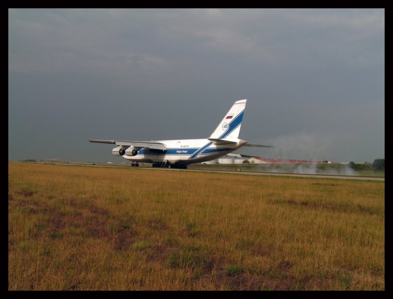 Volga Dnepr Airlines Antonov Landing