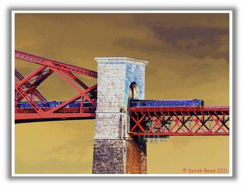 Leaving the Forth Bridge