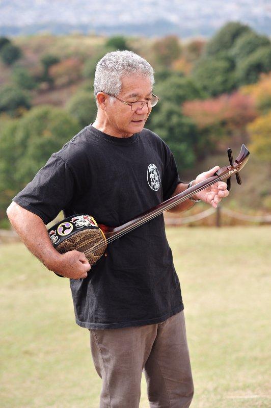 Sanshin at Nara Wakakusa-Yama