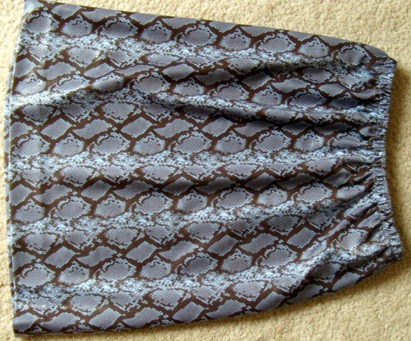 Brown-Blue Snake Skirt Flat