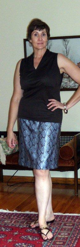Brown-Blue Snake Skirt