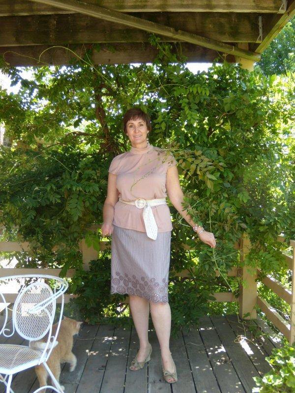 Eyelet Knit Skirt