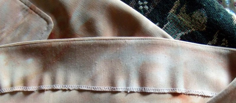 Marfy 093 Skirt - Faced Hem and Patch Pocket Close-up