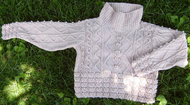 Cable/Bobble Sweater
