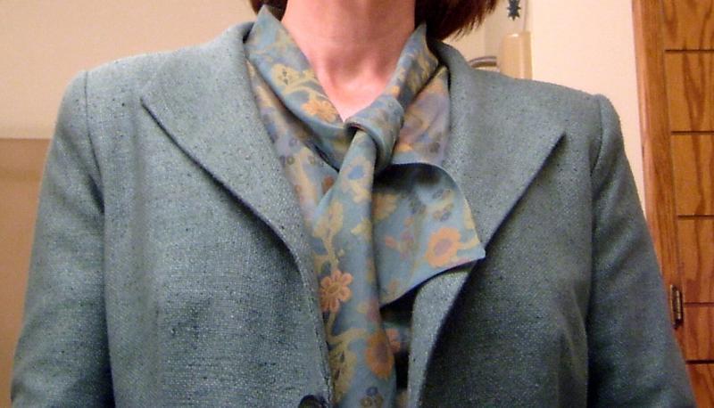 Organza Blouse with Matka Marfy Jacket