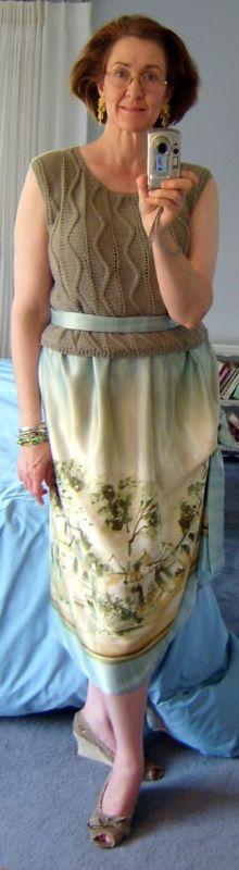 Border Print Skirt Front