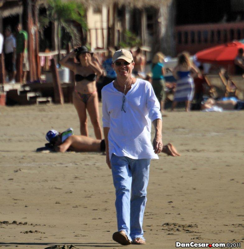 Paul doing his Beach Duty