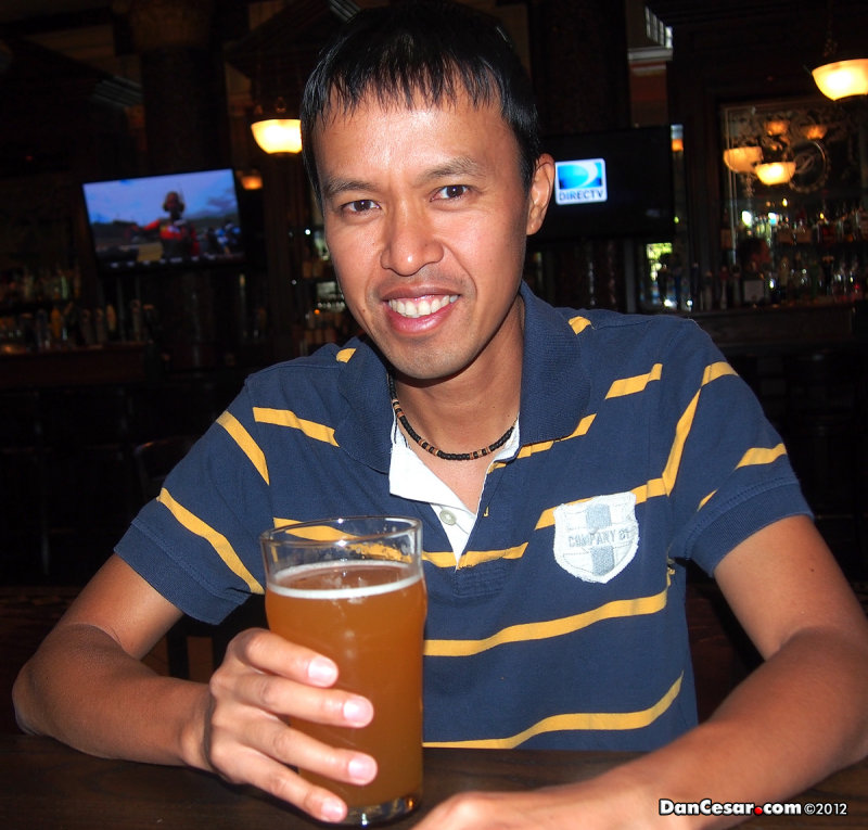 Cesar with a Blue Moon Micro Brew