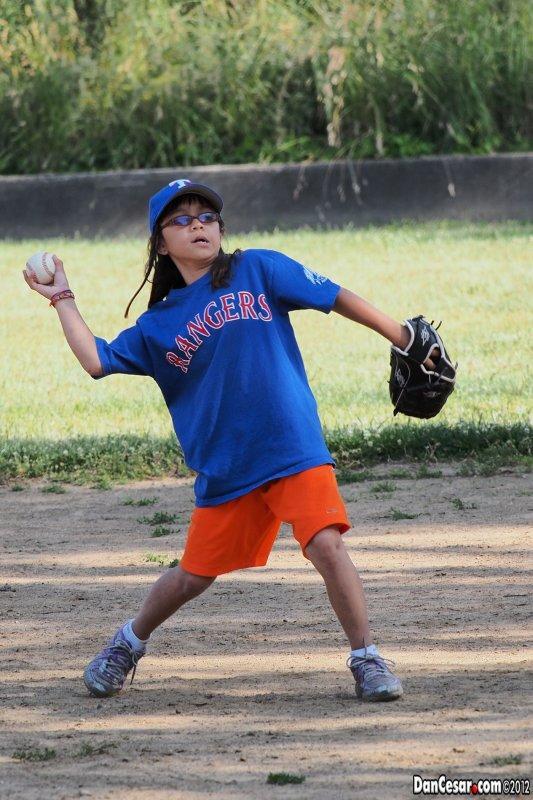 Emma loves baseball