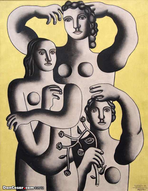 Composition with Three Figures-Fragment, Fernand Leger, French, 1881-1955