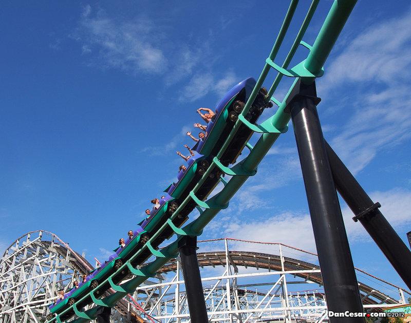 Phantoms Revenge roller coaster Kennywood Park
