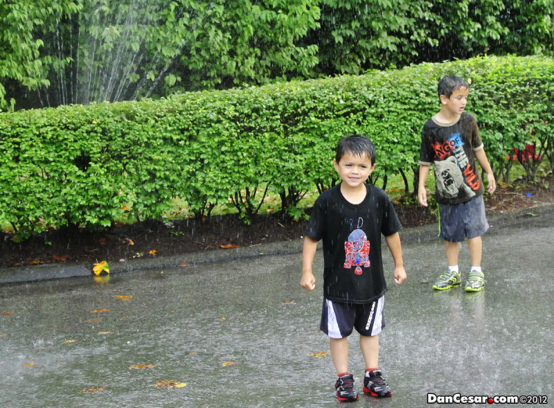 Getting wet at Kennywood