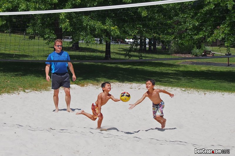 Volleyball with the kids