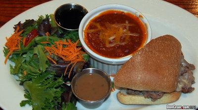 French Dip, Chili & Salad