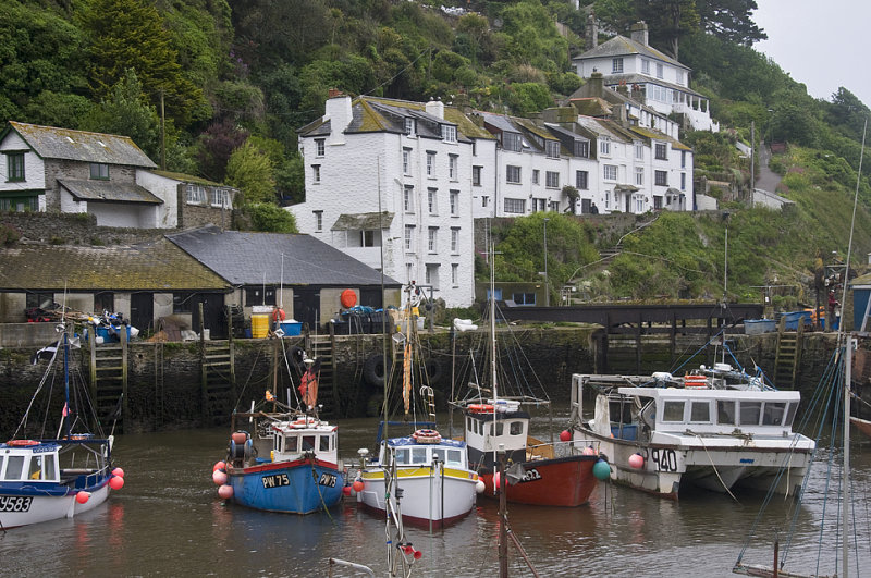 Two Views Of Polperro Harbour