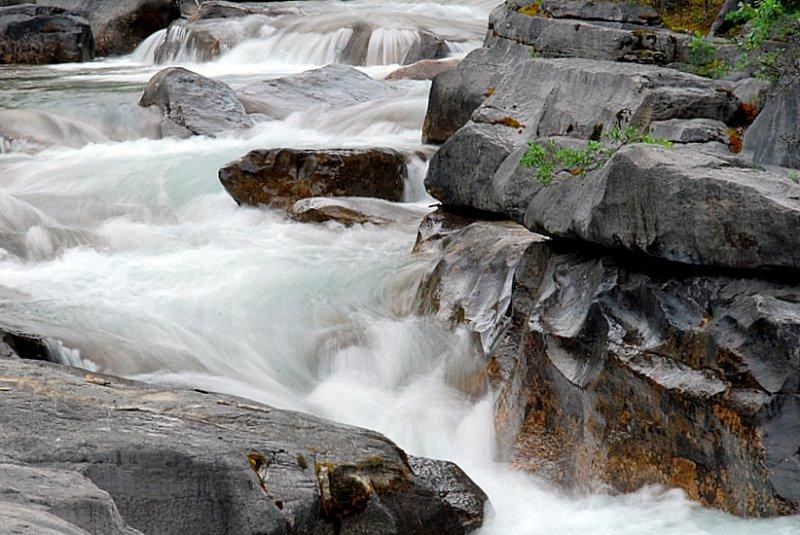 Rapids At Maligne Canyon