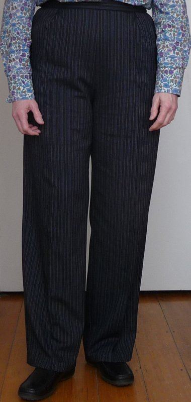 Fourth version - in striped suiting