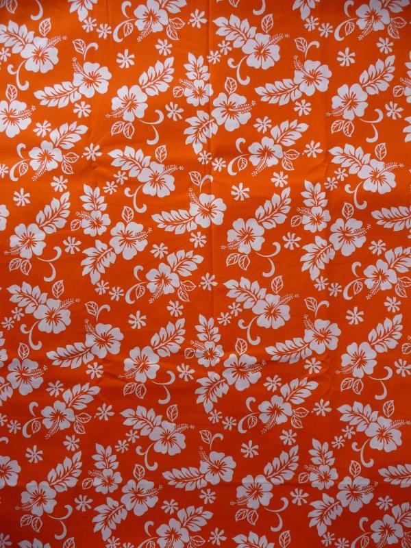 Hawaiian hibiscus print poplin