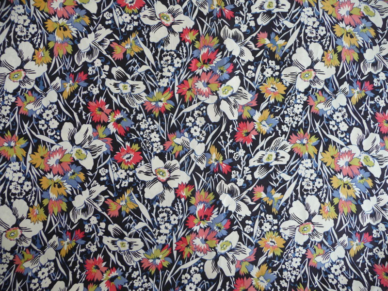 Fabric detail: floral silk twill by Liberty of London