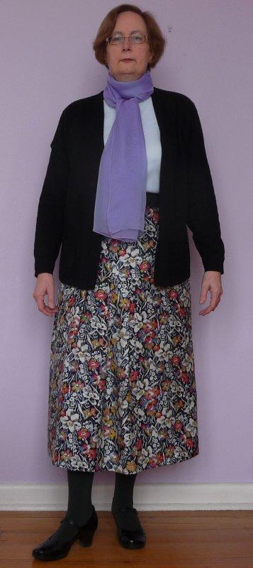 Finished skirt on me