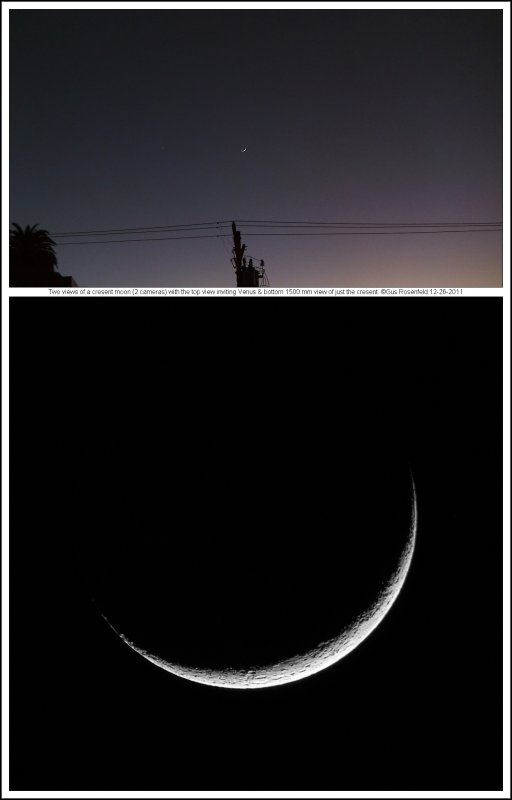 Two Views Of Cresent Moon