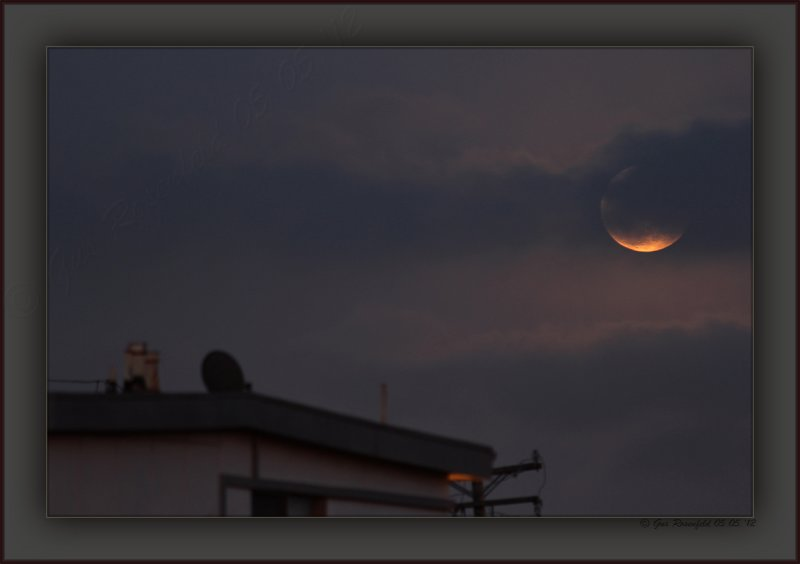 Mostly Eclipsed In Cloud Occultation, Moon Seems More Super In The Beauty Of Partiality