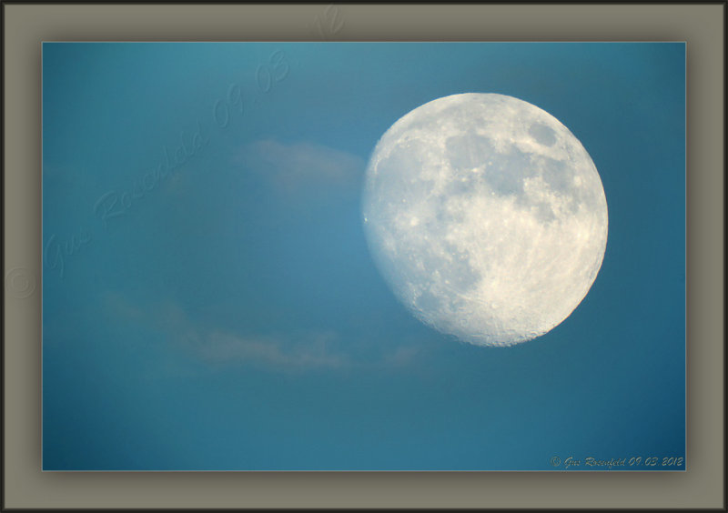 Waxing Blue Moon Of August 2012 About Half Hour Before Sunset