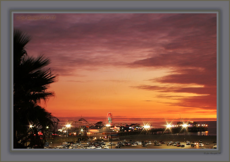 Santa Monica Pier - From My Spot At The Wall