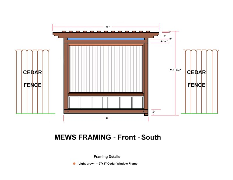 MEWS FRAMING - Front - South