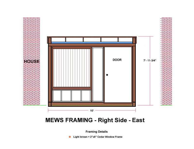 MEWS FRAMING - Right Side - East