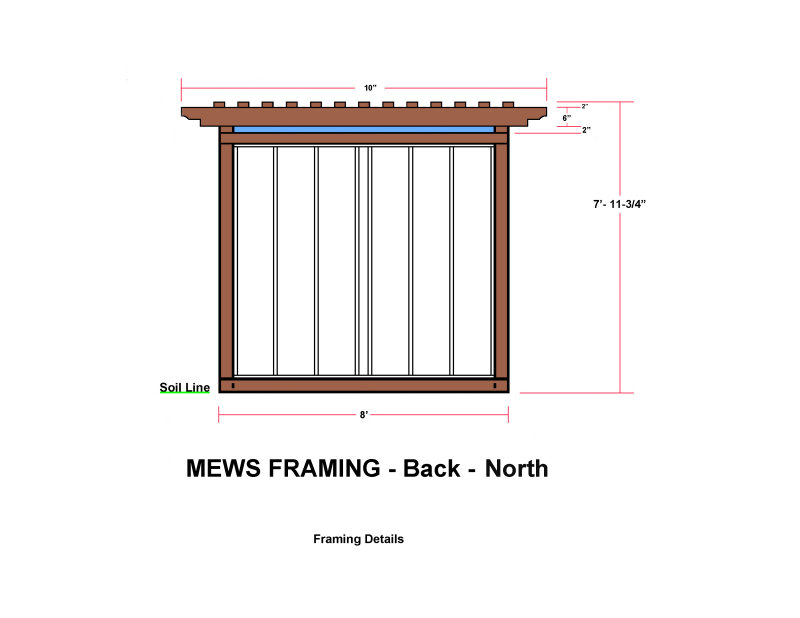 MEWS FRAMING - Back - North