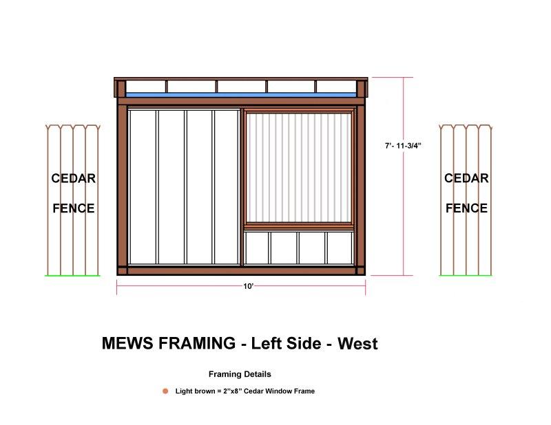 MEWS FRAMING - Left Side - West