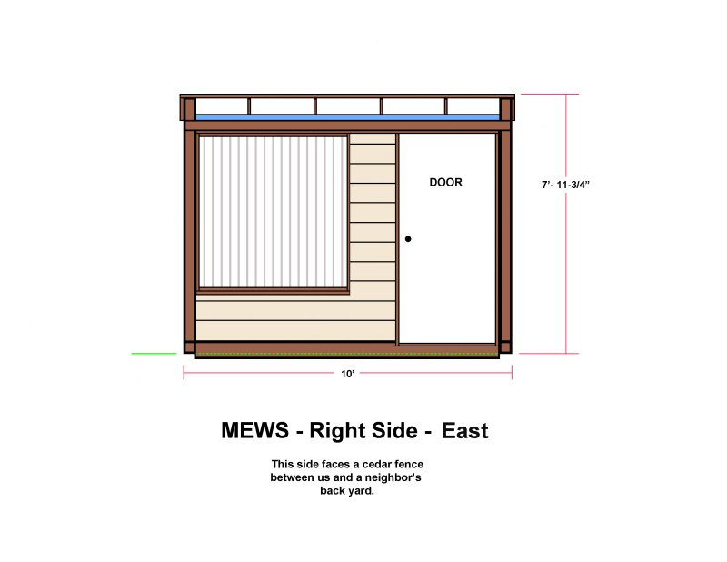 MEWS - Right Side - East - Long Window Version