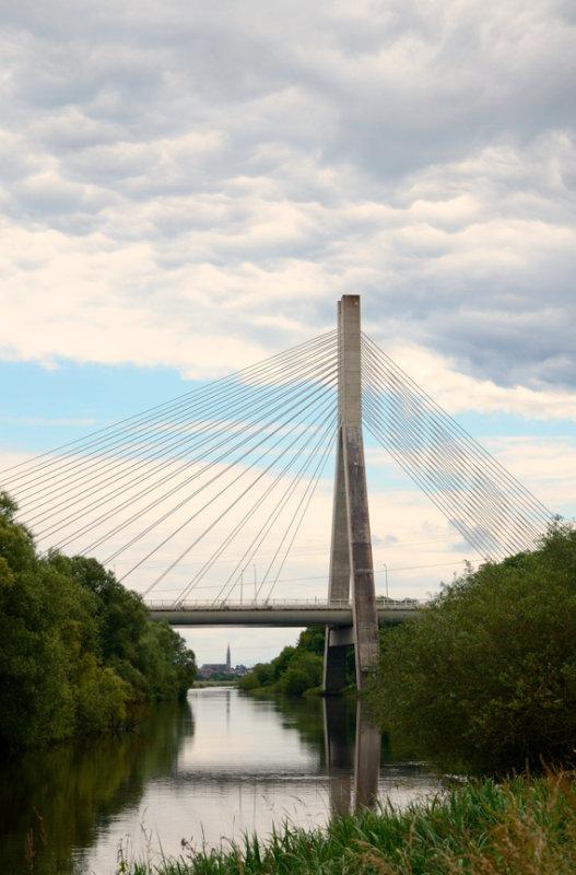 Boyne Cable Bridge from Oldbridge