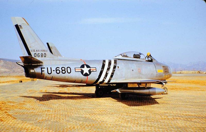 4th FTRW F-86E at Kimpo Base K-14 March 1952