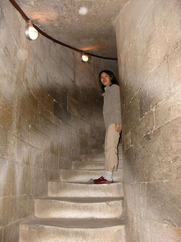 Stairs inside Leaning Tower