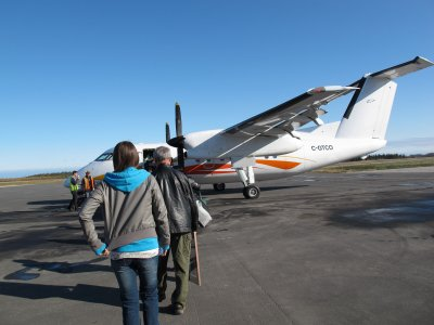 Heading out to the plane at Moosonee Airport 2011 Oct 28
